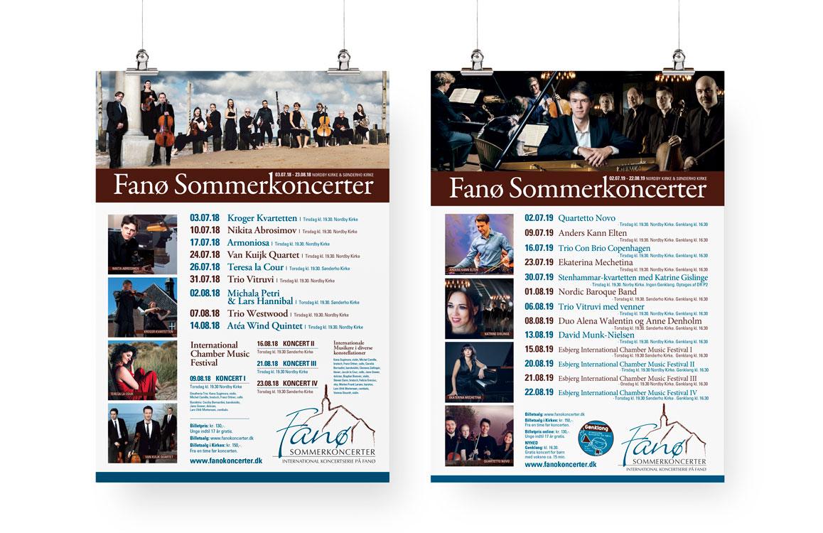 Fanø Sommerkoncerter plakater Linda Kongerslev Design