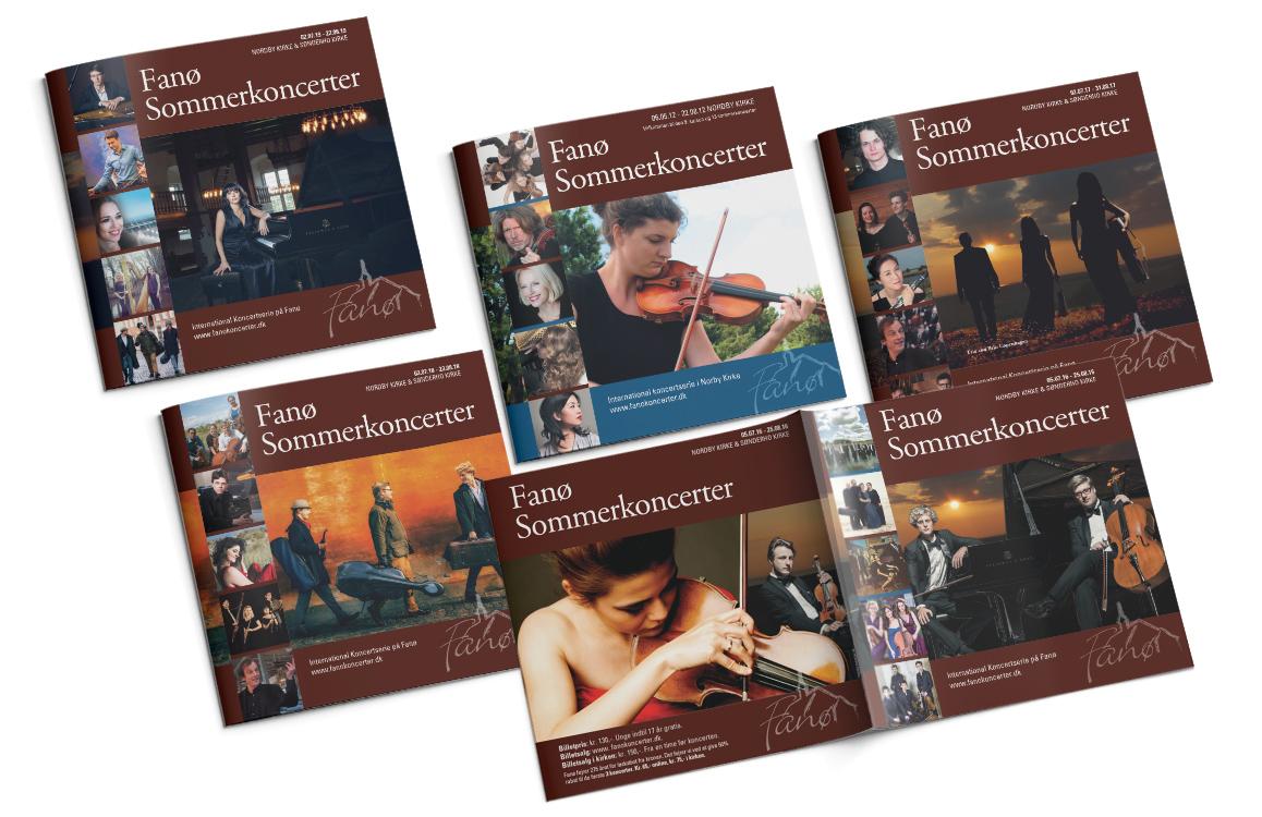 Fanø Sommerkoncerter Program Linda Kongerslev Design