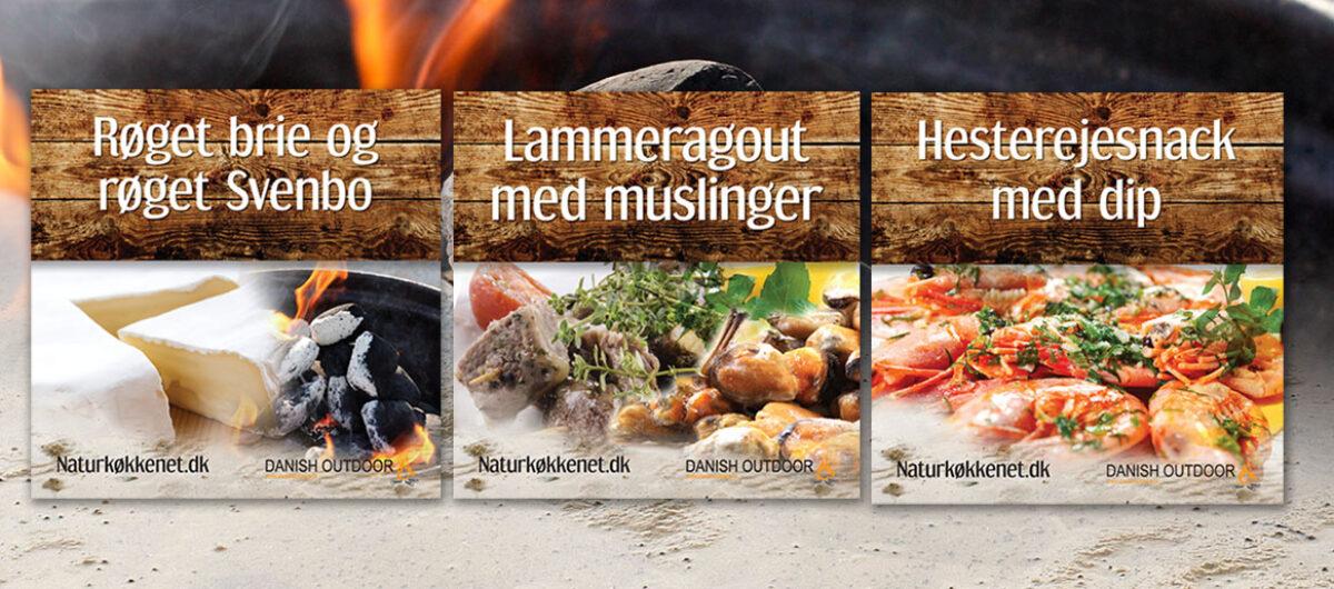 Naturkøkkenet og Danish Outdoor-eventskilte