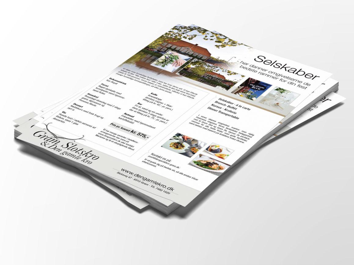 Gram-Slots-Kro selskaber Linda-Kongerslev Grafisk Design