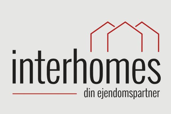 Interhomes - din ejendomspartner logo design Linda Kongerslev