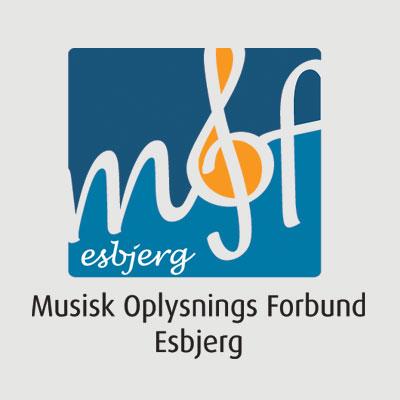 Musisk Oplysnings Forbund Esbjerg logo design Linda Kongerslev