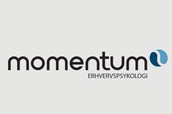 Momentum Erhvervspsykologi logo design Linda Kongerslev