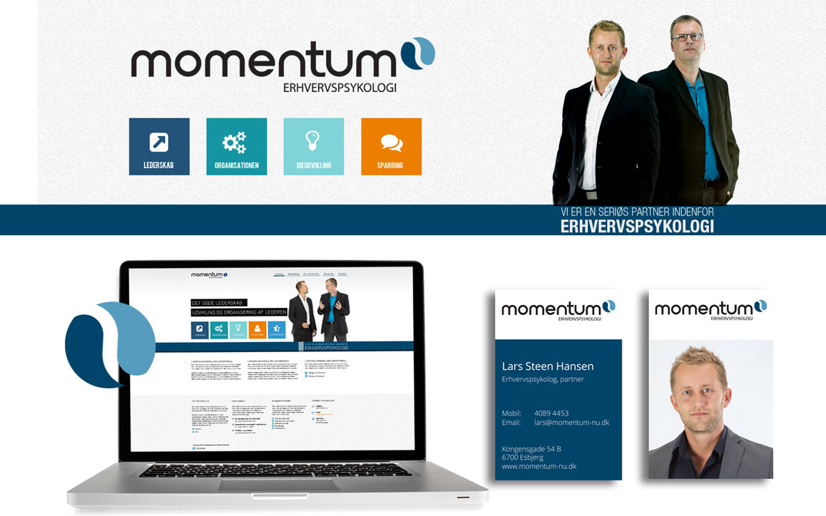 Momentum logo design Linda kongerslev
