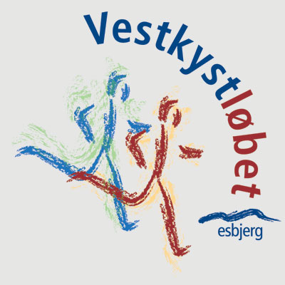 Vestkystløbet Esbjerg logo design Linda kongerslev