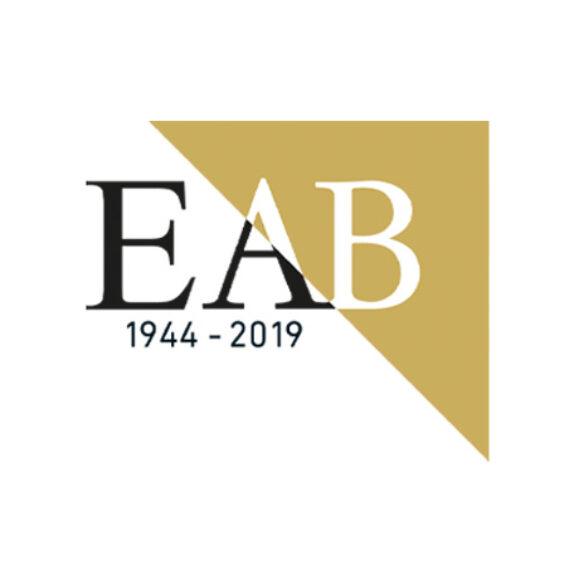 EAB logo jubilæum-lindakongerlsev