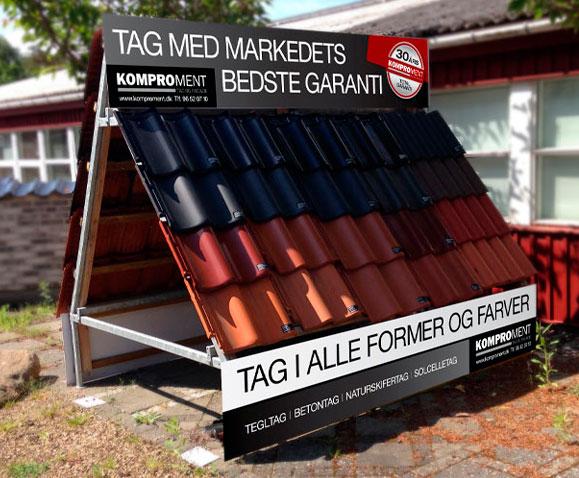 Komproment Skilte produktion Linda Kongerslev Grafisk Design