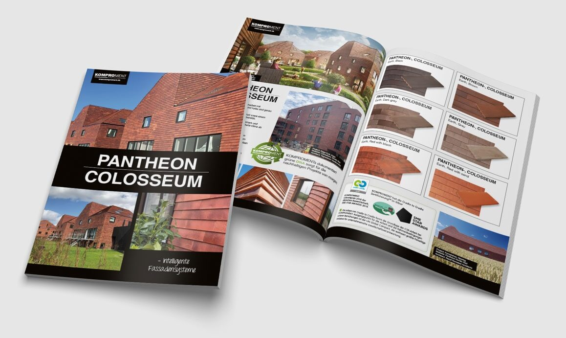 Komproment-Brochure-Pantheon-Colloseum-brochure-Linda kongerslev Grafisk Design