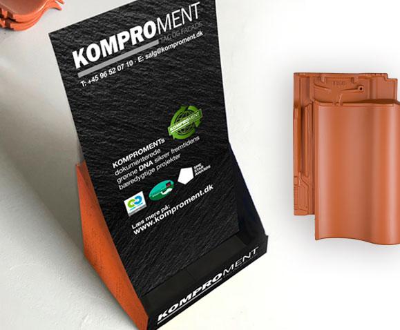 Komproment-display-Butiks materiale Linda Kongerslev Grafisk Design