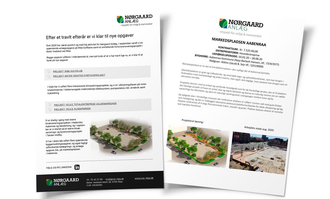 Nørgaard Anlæg nyhedsbreve Linda Kongerslev