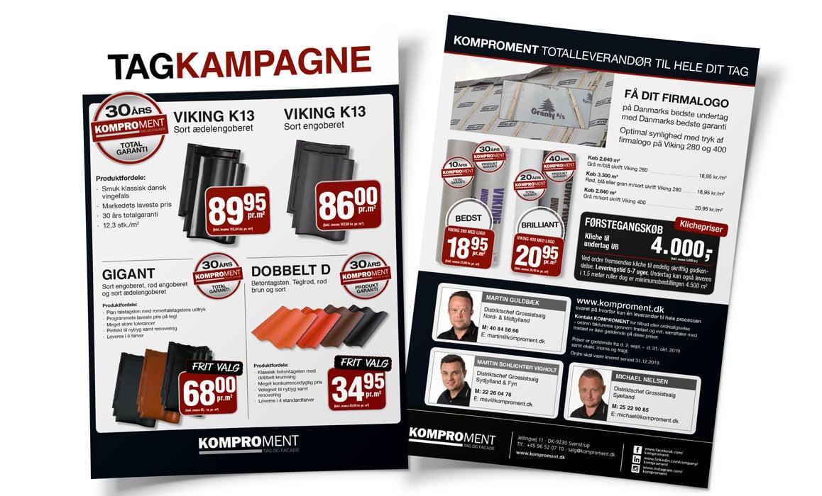 Flyer-Totalleverandør-til-hele-dit-tag-Linda Kongerslev Grafisk Design