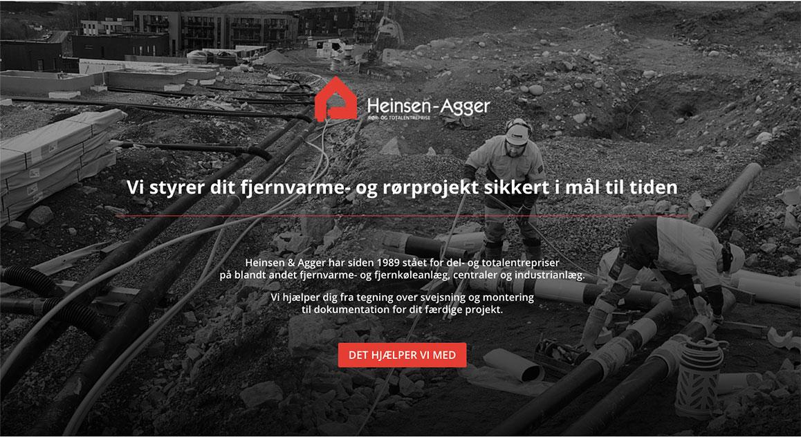 www.heinsen-agger.com. Redesignet logo og ny hjemmeside design og produktion, ny indentitet